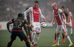 29-09-2016 NED: Europa League AFC Ajax - Standard de Liege, Amsterdam<br /> In de Amsterdamse Arena pakt Ajax zijn tweede overwinning in poule G. Standard Luik wordt met 1-0 verslagen / Nemanja Gudelj #27, Davy Klaassen #10