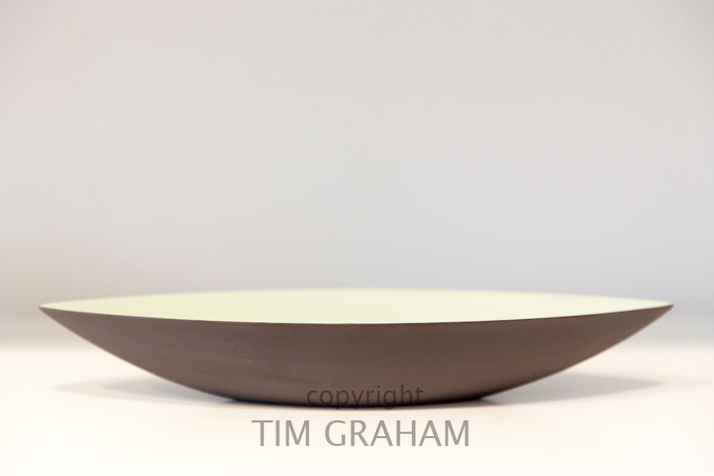 Minimallst ceramics by designer craftsman Ditte Fischer in stylish shop, Laederstraede in Copenhagen, Denmark - bowl
