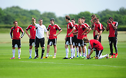 Bristol City's new assistant manager, John Pemberton talks to the squad - Photo mandatory by-line: Dougie Allward/JMP - Tel: Mobile: 07966 386802 27/06/2013 - SPORT - FOOTBALL - Bristol -  Bristol City - Pre Season Training - Npower League One