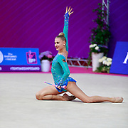 Peschel Noemi during the qualification of clubs at the Pesaro World Cup 2018.Noemi is a German gymnast born in 2001. Her dream is to compete to compete at the 2020 Olympic Games in Tokyo.