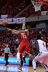 11 February 2017:  Dwayne Lautier-Ogunleye during a College MVC (Missouri Valley conference) mens basketball game between the Bradley Braves and Illinois State Redbirds in  Redbird Arena, Normal IL