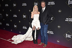 Gwen Stefani and Blake Shelton attend the 2019 E! People's Choice Awards at Barker Hangar on November 10, 2019 in Santa Monica, CA, USA. Photo by Lionel Hahn/ABACAPRESS.COM