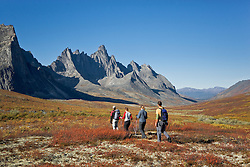 Hiking trip in Tombstone Territorial Park, Yukon in late summer