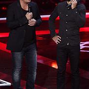 NLD/Hilversum/20131107- The Voice of Holland 1e live uitzending, Wudstik en Martijn Krabbe
