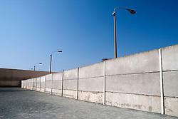 Reconstructed section of the Berlin Wall and death strip at Bernauer Street museum in Berlin 2009