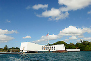 USS Arizona Memorial in Pearl Harbor, Hawaii.