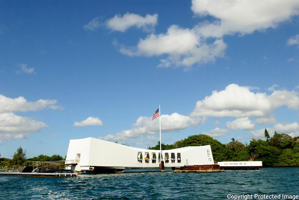 USS Arizona Memorial in Pearl Harbor, Hawaii.