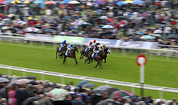 Hesslewood (right) ridden by Daniel Tudhope wins The Reg Griffin Appreciation EBFstallions.com Maiden Stakes, during the Macmillan Charity Raceday at York Racecourse.