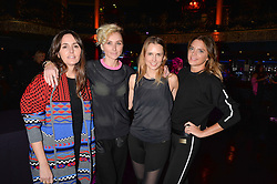 Left to right, Tania Fares, Jo Manoukian, Stefani Grosse and Anna Sweetling and at the SheInspiresMe Dance in aid of Women for Women International held at the Café de Paris, 3 Coventry Street, London England. 25 January 2017.