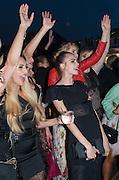 ZARA MARTIN; CARA DELEVIGNE; SUKI WATERHOUSE, Serpentine Summer party 2012 sponsored by Leon Max. Pavilion designed by Herzog & de Meuron and Ai Weiwei. Kensington Gardens. London. 26 June 2012.