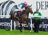 Flat Horse Racing - 2017 Investec Derby Festival - Ladies Day<br /> <br /> Frankie Dettori  on Enable wins the 16: 30 Investec Oaks, at Epsom Racecourse.<br /> <br /> COLORSPORT/ANDREW COWIE