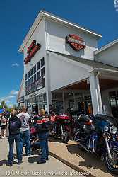 Meredith Harley-Davidson during Laconia Motorcycle Week. NH, USA. June 20, 2014.  Photography ©2014 Michael Lichter.