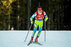 Miha Dovzan (SLO) competes during Men 12,5 km Pursuit at day 3 of IBU Biathlon World Cup 2015/16 Pokljuka, on December 19, 2015 in Rudno polje, Pokljuka, Slovenia. Photo by Vid Ponikvar / Sportida