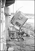 """Ackroyd 19047-R2-14 """"Zidell Exploration. Rochester Museum & Science Center"""" """"Scrapping USS Rochester. October 8, 1974"""""""