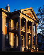 Magnolia Hall, built in 1858 in Greek Revival Style by Thomas Henderson, it was the last great hall built before the Civil War. Now owned by the Natchez Garden Club, Natchez, Mississippi.