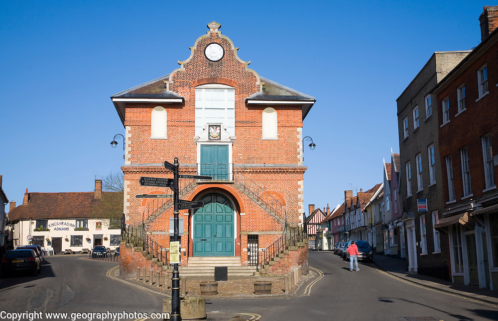 The Shire Hall built 1575 by Thomas Seckford on Market Hill, Woodbridge, Suffolk, England