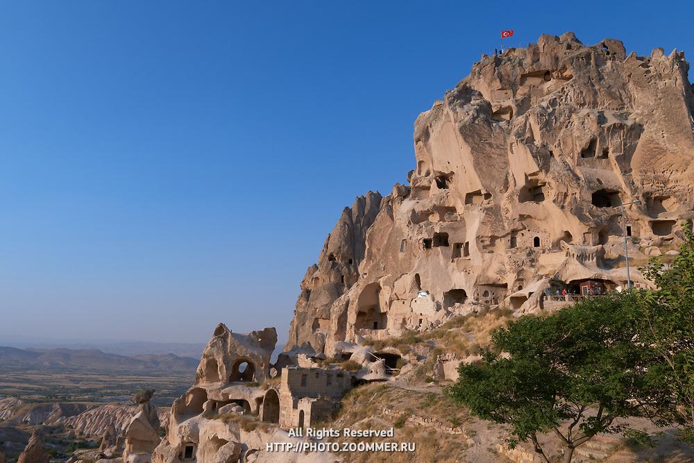 Uchisar Castle At Sunset, Cappadocia