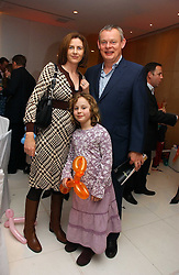 Actor MARTIN CLUNES, his wife PHILIPPA BRAITHWAITE and their daughter EMILY  at the English National Ballet's Mad Hatters Tea Party at St.Martins Lane Hotel, St Martins Lane, London on 12th December 2006.<br /><br />NON EXCLUSIVE - WORLD RIGHTS