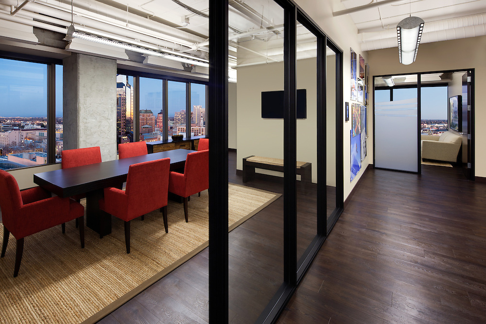 Conference Room and Office Interior of Travel California Offices Photographed for  Lionakis, and Swinerton Builders.