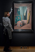Le Groupe Silencieux, 1926, by Rene Magritte est £6.5-9.5m - Christie's unveil an exhibition of in advance of their Art of the Surreal sale on 27 February.