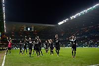 la squadra festeggia sotto la curva  Juventus.Glasgow 12/02/2013 Celtic Park Stadium.Football Calcio Champions League Season 2012/13.Celtic Glasgow vs Juventus.Foto Insidefoto Federico Tardito
