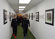 Sheffield United Ladies Kimberley Brown (Left) makes her way out of the dressing room prior to kick off during the FA Women's Cup First Round match at Bramall Lane Stadium, Sheffield. Picture date: December 4th, 2016. Pic Clint Hughes/Sportimage