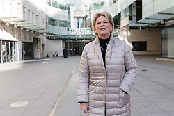 © Licensed to London News Pictures. 11/02/2018. London, UK. Anna Soubry MP leaving BBC Broadcasting House after appearing on the Andrew Marr Show. Photo credit: Vickie Flores/LNP