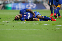 Juventus´s Vidal suffers during the Champions League semi final soccer match between Real Madrid and Juventus at Santiago Bernabeu stadium in Madrid, Spain. May 13, 2015. (ALTERPHOTOS/Victor Blanco)