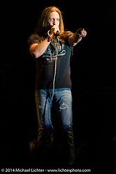 Jesse James Dupree leads Jackyl playing a free concert at Destination Daytona during Biketoberfest, Ormond Beach, FL, October 18, 2014, photographed by Michael Lichter. ©2014 Michael Lichter