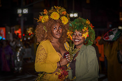 October 31, 2018 - Manhattan, New York, United States - Women seen dressed in Halloween costume during the parade..Hundreds of people participated in the 45th Annual Greenwich Village Halloween Parade in New York City. (Credit Image: © Ryan Rahman/SOPA Images via ZUMA Wire)