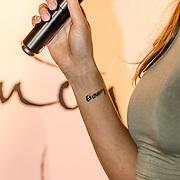 NLD/Amsterdam//20170413 - Presentatie Wendy Geeft met oa Kim Feenstra , Tattoo Kim Feenstra