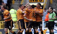 Photo: Paul Thomas.<br /> Wolverhampton Wanderers v Birmingham City. Coca Cola Championship. 22/04/2007.<br /> <br /> Michael McIndoe (32) and Wolves celebrates his first goal.