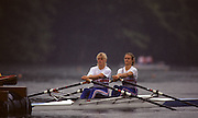 Lucerne, SWITZERLAND. GRB W2X Alison GILL and Annabell EYRES, 1992 FISA World Cup Regatta, Lucerne. Lake Rotsee.  [Mandatory Credit: Peter Spurrier: Intersport Images] 1992 Lucerne International Regatta and World Cup, Switzerland