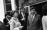 Mr and Mrs Jonathan Aitken and Hon Robert Corbett 1985 ONE TIME USE ONLY - DO NOT ARCHIVE  © Copyright Photograph by Dafydd Jones 66 Stockwell Park Rd. London SW9 0DA Tel 020 7733 0108 www.dafjones.com