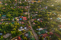 Aerial view of residential district of Fort San Pedro, philippines.