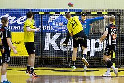 Mitja Nosan of RK Gorenje Velenje during handball match between RK Gorenje Velenje (SLO) and Team Tvis Holstebro (DEN) in 3rd Qualification round of EHF European Cup 2015/16, on November 22, 2014, Rdeca dvorana, Velenje, Slovenia. Photo by Urban Urbanc / Sportida