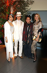 Left to right, ANDY & PATTI WONG, the Son of the Sultan of Brunei PRINCE AZIM OF BRUNEI and JERRY HALL at Andy & Patti Wong's Chinese New Year party to celebrate the year of the Rooster held at the Great Eastern Hotel, Liverpool Street, London on 29th January 2005.  Guests were invited to dress in 1920's Shanghai fashion.<br /><br />NON EXCLUSIVE - WORLD RIGHTS