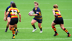 Vicky Foxwell of Worcester Valkyries looks for a pass - Mandatory by-line: Nizaam Jones/JMP - 22/09/2018 - RUGBY - Sixways Stadium - Worcester, England - Worcester Valkyries v Richmond Women - Tyrrells Premier 15s