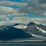 North America, United States, US, Northwest, Pacific Northwest, West, Alaska,  Kenai, Kenai Fjords, Kenai Fjords National Park, Kenai Fjords NP. Bear Glacier meets the water's edge in Kenai Fjords National Park, Alaska.