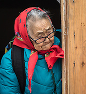 Nellie Nastapoka, an inuit elder in Inukjuak. I've met her while she was sewing a seal skin for an umiak.