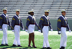 May 25, 2019 - New York, United States - West Point graduates attend the U.S. Military Academy Class of 2019 graduation ceremony at Michie Stadium on May 25, 2019 in West Point, New York. (Credit Image: © Selcuk Acar/NurPhoto via ZUMA Press)
