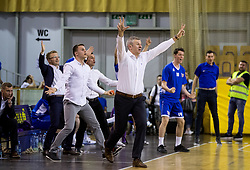 Damjan Novakovic, coach of Rogaska during basketball match between KK Union Olimpija and KK Rogaska in 2nd Final game of Liga Nova KBM za prvaka 2016/17, on May 19, 2017 in Hala Tivoli, Ljubljana, Slovenia. Photo by Vid Ponikvar / Sportida