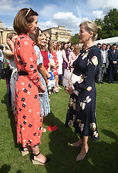 The Countess of Wessex with mDarcey Bussell during the Duke of Edinburgh Gold Award presentations in the Buckingham Palace garden, London.