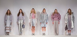 © Licensed to London News Pictures. 01/06/2015. London, UK. Collection by Lydia Harding. Fashion show of Nottingham Trent University at Graduate Fashion Week 2015. Graduate Fashion Week takes place from 30 May to 2 June 2015 at the Old Truman Brewery, Brick Lane. Photo credit : Bettina Strenske/LNP