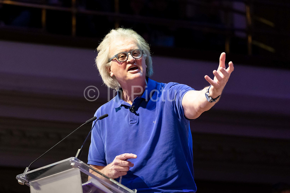 Tim Martin, founder and chairman of Wetherspoon speaking at a 'Brexit:Let's Go WTO Rally' organised by the Leave Means Leave campaign in Westminster, London, UK on January 17, 2019 where leading business and political Brexiteers discussed why WTO rules will allow Great Britain to thrive outside the European Union after Brexit.