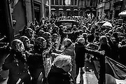 Nel giorno della direzione nazionale del Partito Democratico, scontri tra polizia e lavoratori (tassisti e No Bolkestein) contro il decreto milleproroghe, Roma 21 Febbraio 2017. Christian Mantuano / OneShot<br />