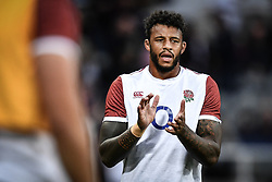 Courtney Lawes of England during the pre match warm up<br /> <br /> Photographer Craig Thomas/Replay Images<br /> <br /> Quilter International - England v Italy - Friday 6th September 2019 - St James' Park - Newcastle<br /> <br /> World Copyright © Replay Images . All rights reserved. info@replayimages.co.uk - http://replayimages.co.uk