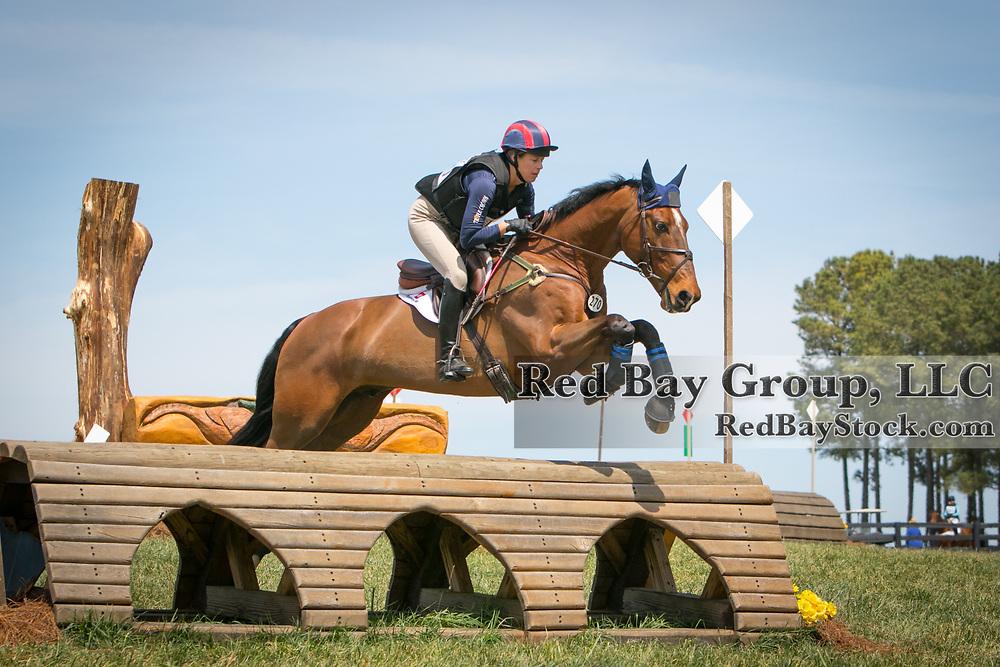 Mara DePuy and Alimit at The Fork Horse Trials in Norwood, North Carolina.
