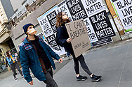 A protestor holds up a sign to show support of the movement on 06 June, 2020 in Melbourne, Australia. This event was organised to rally against aboriginal deaths in custody in Australia as well as in unity with protests across the United States following the killing of an unarmed black man George Floyd at the hands of a police officer in Minneapolis, Minnesota. (Photo by Mikko Robles/ Speed Media)