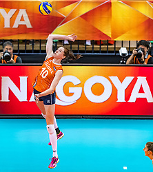 15-10-2018 JPN: World Championship Volleyball Women day 16, Nagoya<br /> Netherlands - USA 3-2 / Lonneke Sloetjes #10 of Netherlands